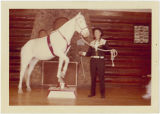 Ray Smith with his horse, Sandy