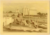 Howard Engle with sturgeon
