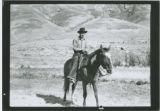 Ray Blankenship on horseback