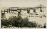 Lewiston-Clarkston Bridge, looking toward Lewiston, Lewiston, Idaho and Clarkston, Washington,...