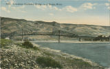 Lewiston-Clarkston bridge over Snake river, Lewiston, Idaho and Clarkston, Washington, circa...