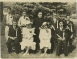 Holy Family school graduating class of 1935 with Father Meyer, Clarkston, Washington, 1935