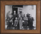 Participants in the trial of Herbert Niccolls, the boy who shot Sheriff John L. Wormell, Asotin,...