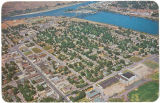 Aerial view of Clarskton, Washington, circa 1970-1975