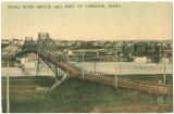 Snake River bridge and part of Lewiston, Idaho, circa 1904-1914