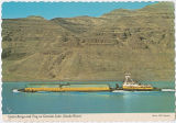 Grain barge and tug on Granite Lake (Snake River), Asotin County, Washington, circa 1975-1977