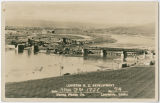 Clearwater Bridge under construction, Lewiston, Idaho, 1921