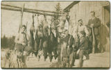 Hunting party with deer and fox carcasses, Asotin County, Washington, 1914