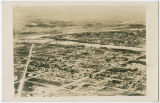 Aerial view of Clarkston, Washington with Lewiston, Idaho in background, circa 1925-1940