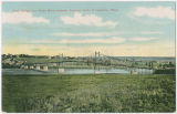 Steel Bridge over Snake River between Lewiston, Idaho & Clarkston, Washington looking...
