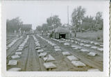 Clarkston constructs first soil cement street in the State of Washington, Clarkston, Washington,...