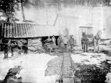 Keystone-Belle Mine. Two sleighs.