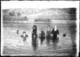 Children swimming in Yakima River