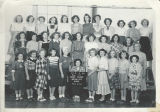 Class photo, Benton City Grade School, 7th and 8th grade P.E., 1950-1951