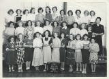 Class photo, girls' glee club, Benton City, Washington, 1950-1951
