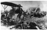 Early threshing machine