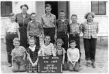 Pine Grove School class photo, Dayton, Washington, 1949-1950