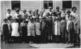 Dayton Upper Primary School class photo, Columbia County, Washington