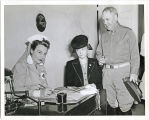 Maj. General Frederick Gilbreath and wife, Edna, at Red Cross Blood Procurement Center, Fort...