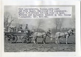 Fort Leavenworth, Kansas, old fire wagon, 1935-1936