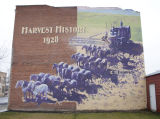 Mural, harvest history 1928, Connell, Washington
