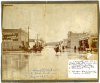 Cloudburst in Connell, Washington, August 1907