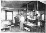 Connell Post Office interior, Franklin County, Washington, 1913