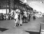 Yakama Indian women on horseback