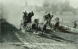 Stagecoaches racing for the finish line