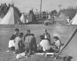 Indian camp at the fairgrounds