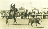 Calf roping at the Ellensburg Rodeo