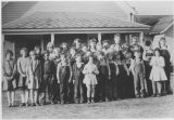 Woldale School District, class photo, Kittitas County, Washington, 1929