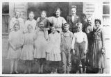Thorp High School, Miss Shotwell and class, Kittitas County, Washington, 1919