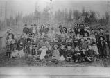 Roslyn school children, Washington Territory, circa 1886-1889