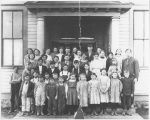 Ridgeway School class photo, Kittitas County, Washington, 1908