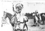 Chief Jimmy Saluskin at the 1931 Ellensburg Rodeo