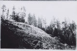 Construction of a ski jump or ski run near Cle Elum