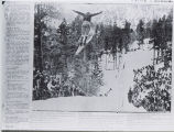 Ski jumper photograph from newspaper