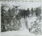 Ski jumper photograph from newspaper II