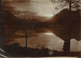 Sun setting over a mountain lake, Kittitas County, Washington, circa 1900-1909