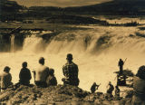 Spectators at Celilo Falls