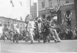 A parade of Yakama Indians