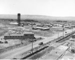 Ellensburg Air Base, construction of cantonment area as seen from control tower, July 17, 1943