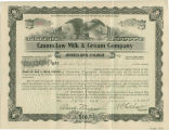 Stock certificates, Enumclaw Milk & Cream Company, 1914