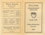 Strawberry Festival official program, Kalama, Washington, June 6-7, 1941