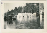 Kalama fire house during flood, Kalama, Washington, 1948