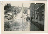 First Street during flood, Kalama, Washington, 1948