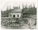 Electric power house at Husum, Wash., circa 1891-1909