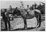 Norman Hodson riding pony