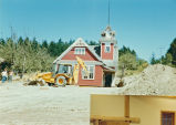 Lopez Island Library and bulldozer